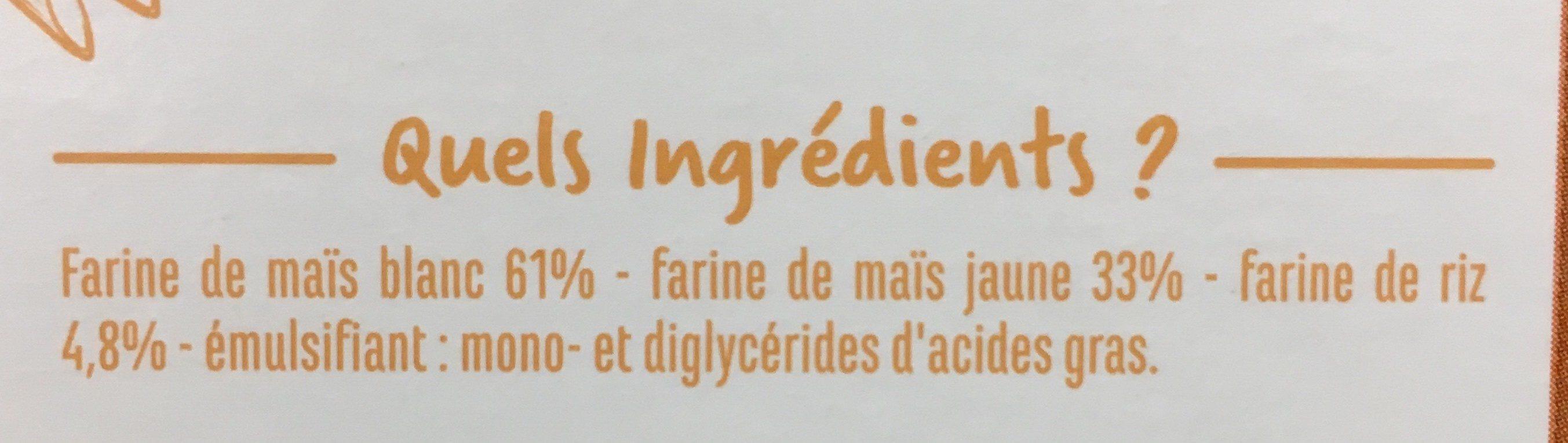 Penne sans gluten - Ingrédients