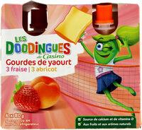 Gourdes de yaourt - 3 fraise - abricot - Product - fr