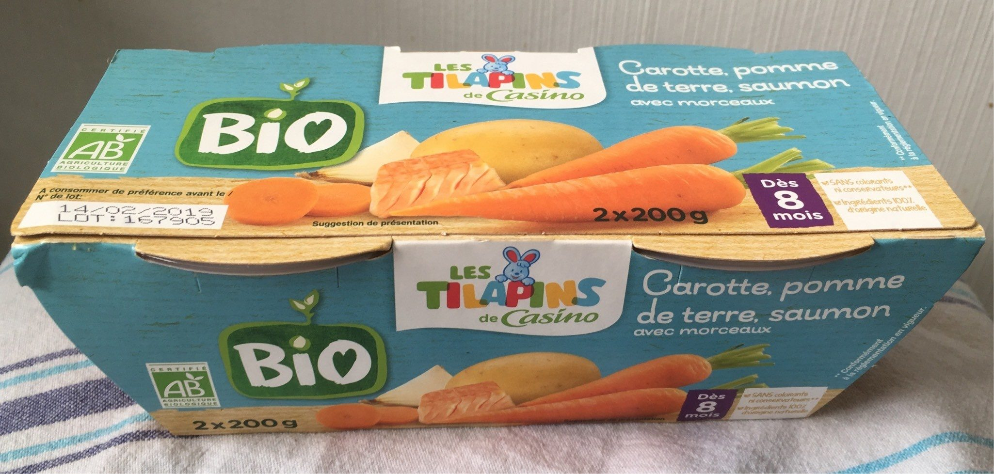 Carottes Pommes de terre Saumon avec morceaux - Dès 8 mois BIO - Produit