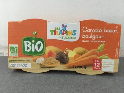 Carottes Bœuf Boulgour avec morceaux - Dès 12 mois BIO - Product