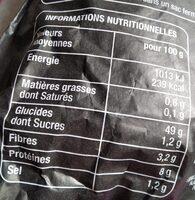 Pavé à base de farine Label Rouge - Informations nutritionnelles - fr