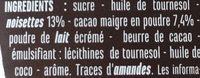 Noisette - Ingrédients - fr