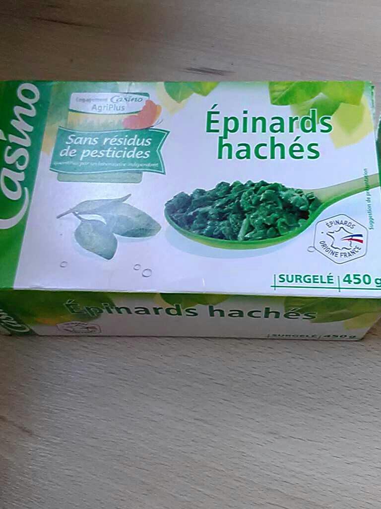 Epinards hachés - Produit