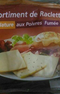 Assortiment de Raclettes Nature, aux Poivres, Fumée - Produit - fr