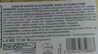 Assortiment de Raclettes Nature, aux Poivres, Fumée - Ingrédients - fr