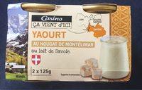 Yaourt au lait de Savoie et au nougat de Montélimar - Product