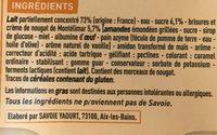 Yaourt au lait de Savoie et au nougat de Montélimar - Ingredients