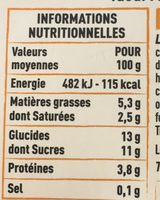 Yaourt au lait de Savoie et au nougat de Montélimar - Nutrition facts