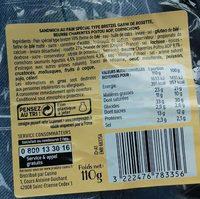 Moricette rosette beurre Charente-Poitou AOP cornichons - Informations nutritionnelles - fr