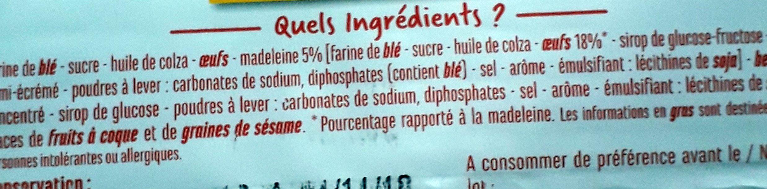 Palets gourmands - Ingrediënten - fr