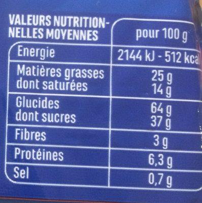 Choco crack chocolat au lait - Voedingswaarden