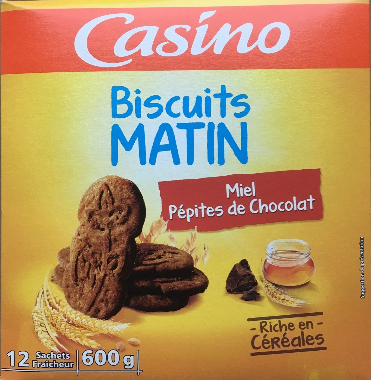 Biscuits matin miel pépites choco de chocolat - Product