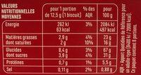 Sablés coeur saveur cerise - Nutrition facts