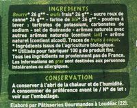 Quatre-quarts Bio - Ingrediënten - fr