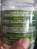 Coeurs de palmier BIO - Ingrédients - fr