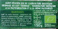 Saint-Félicien - Ingredients