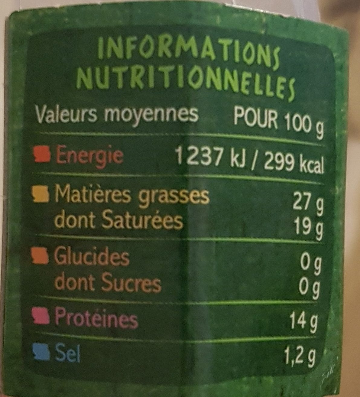 Saint-Félicien - Nutrition facts