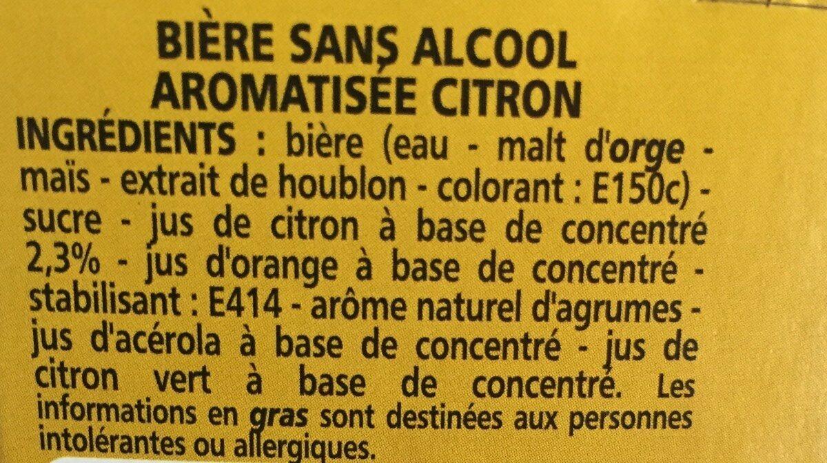 Bière Kellegen sans alcool aromatisée citron - 6x25cl - Ingrediënten - fr