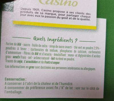 Galettes Thé vert Goût Yuzu - Ingrédients - fr