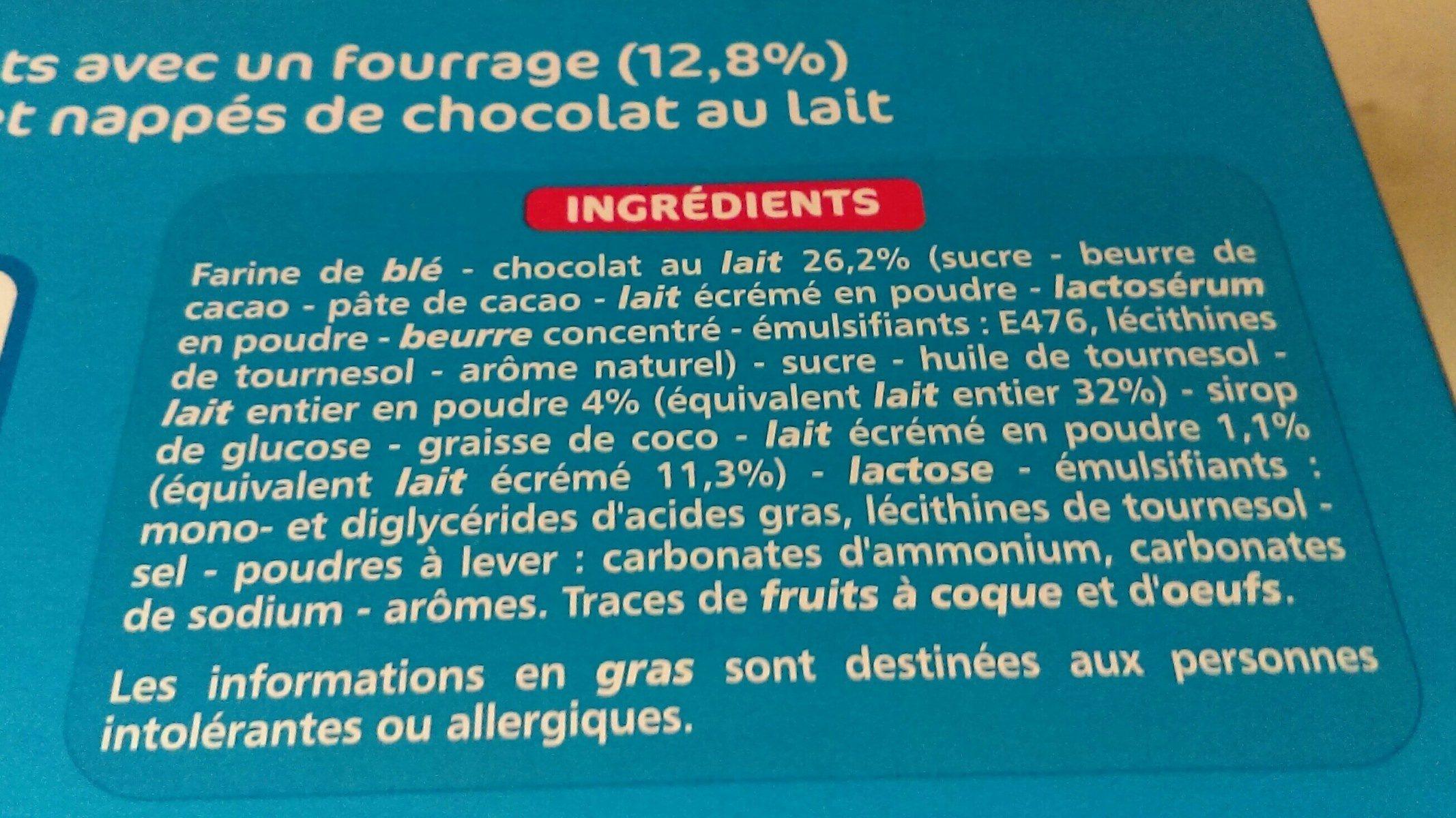 Mini tartelettes choco coeur au lait - Ingrediënten - fr