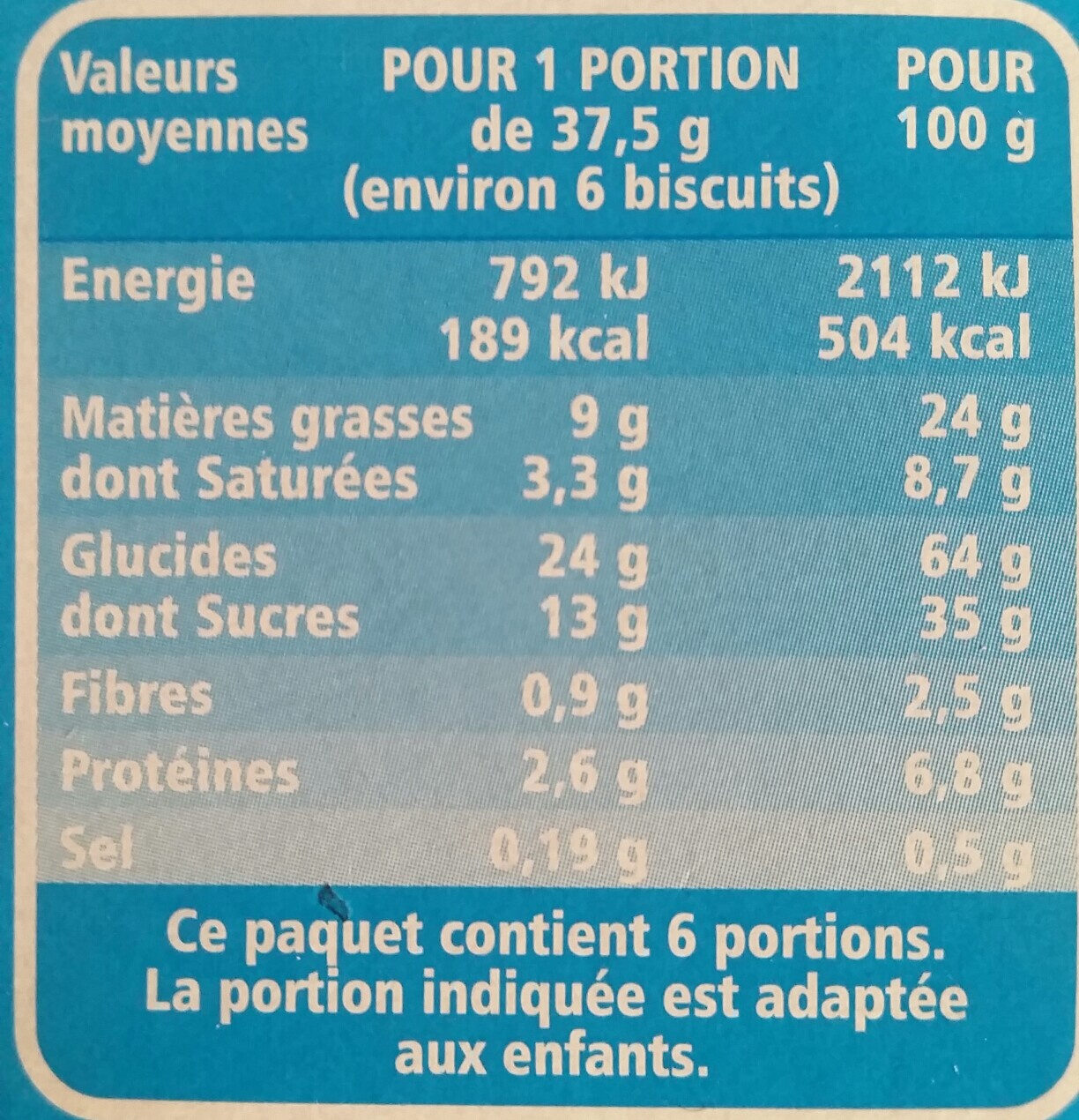 Mini tartelettes choco coeur au lait - Voedingswaarden - fr