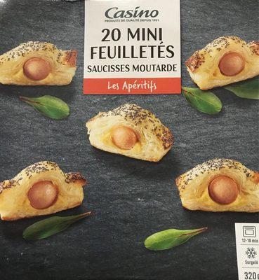 20 Mini feuilletés saucisses moutarde - Produit