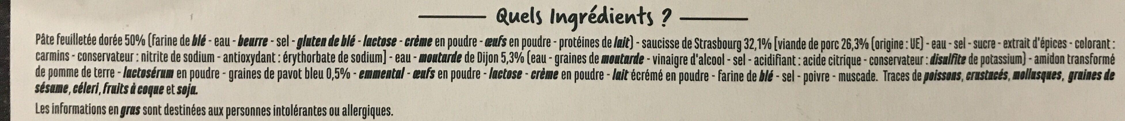 20 Mini feuilletés saucisses moutarde - Ingrédients