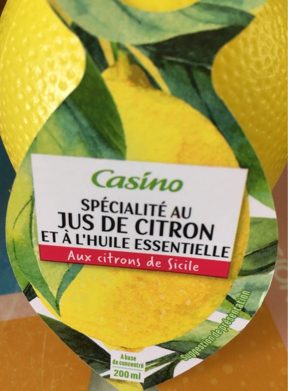 Spécialité au jus de citron et à l'huile essentielle - Produit - fr