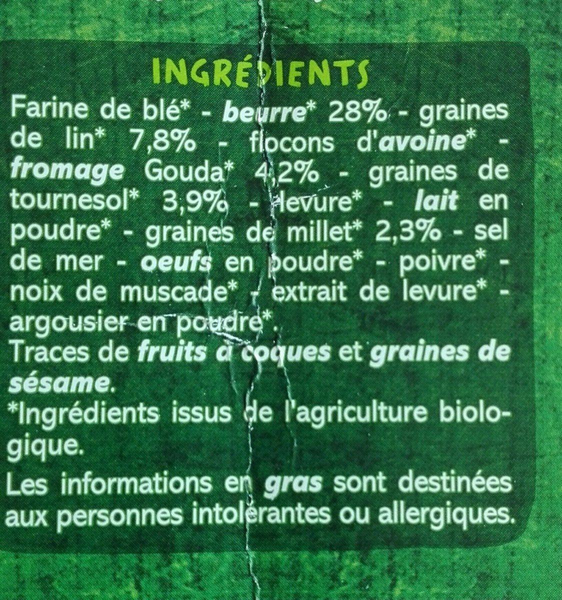 Biscuits salés graines et gouda - Ingrediënten