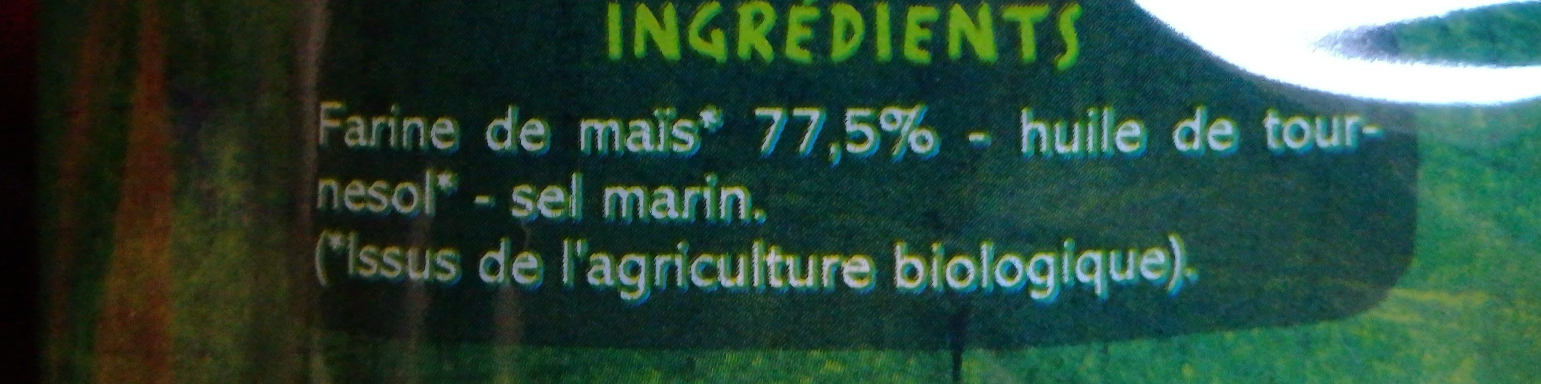 Tortillas chips - Ingrediënten - fr