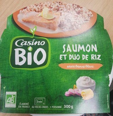 Saumon et duo de riz, sauce beurre blanc - Produkt - fr