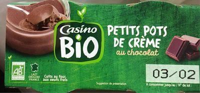 Petits pots de crème au chocolat - Product