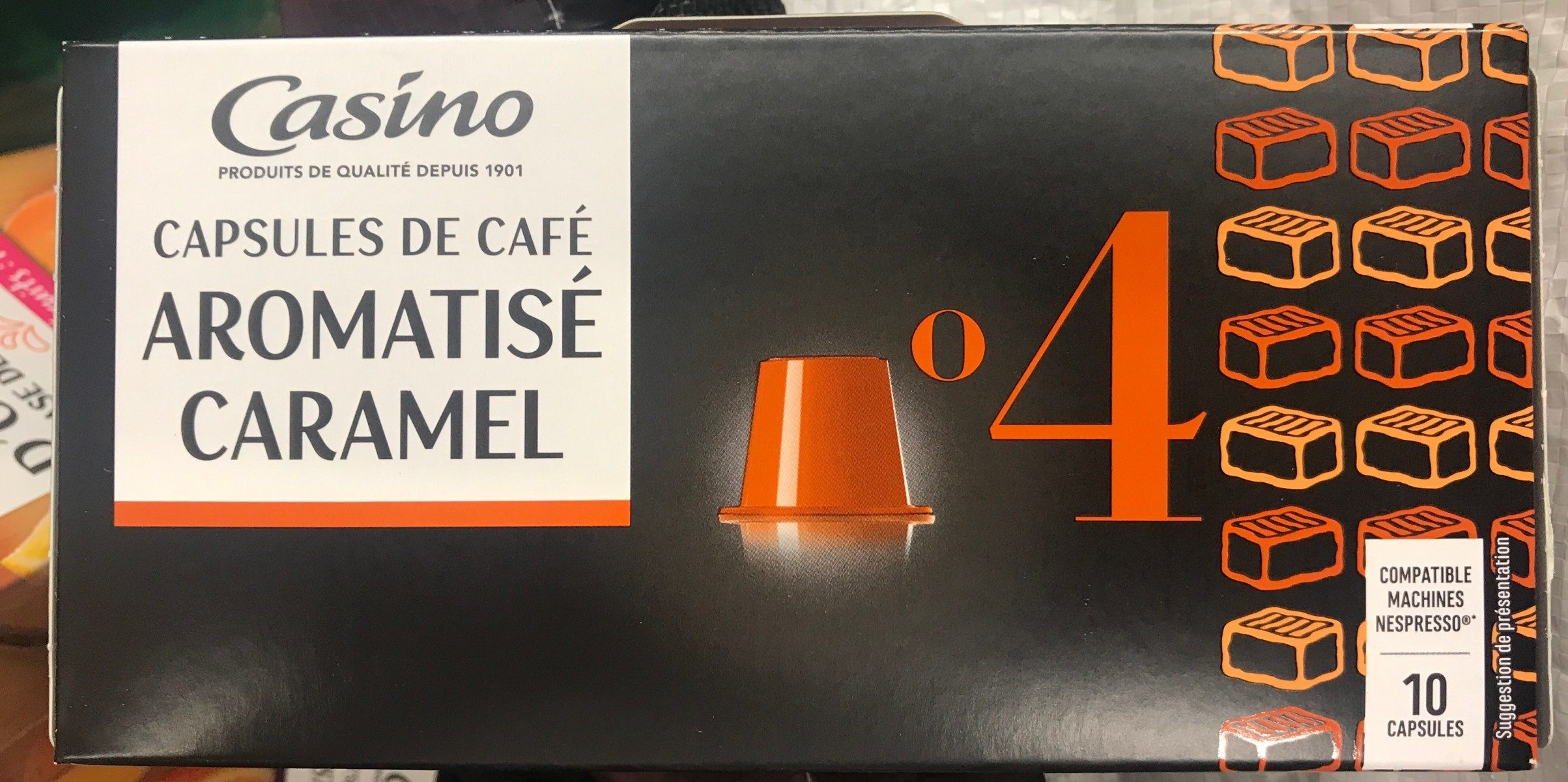 Capsules Café aromatisé caramel x10 compatible Nespresso - Product