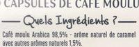 Capsules Café aromatisé caramel x10 compatible Nespresso - Ingredients