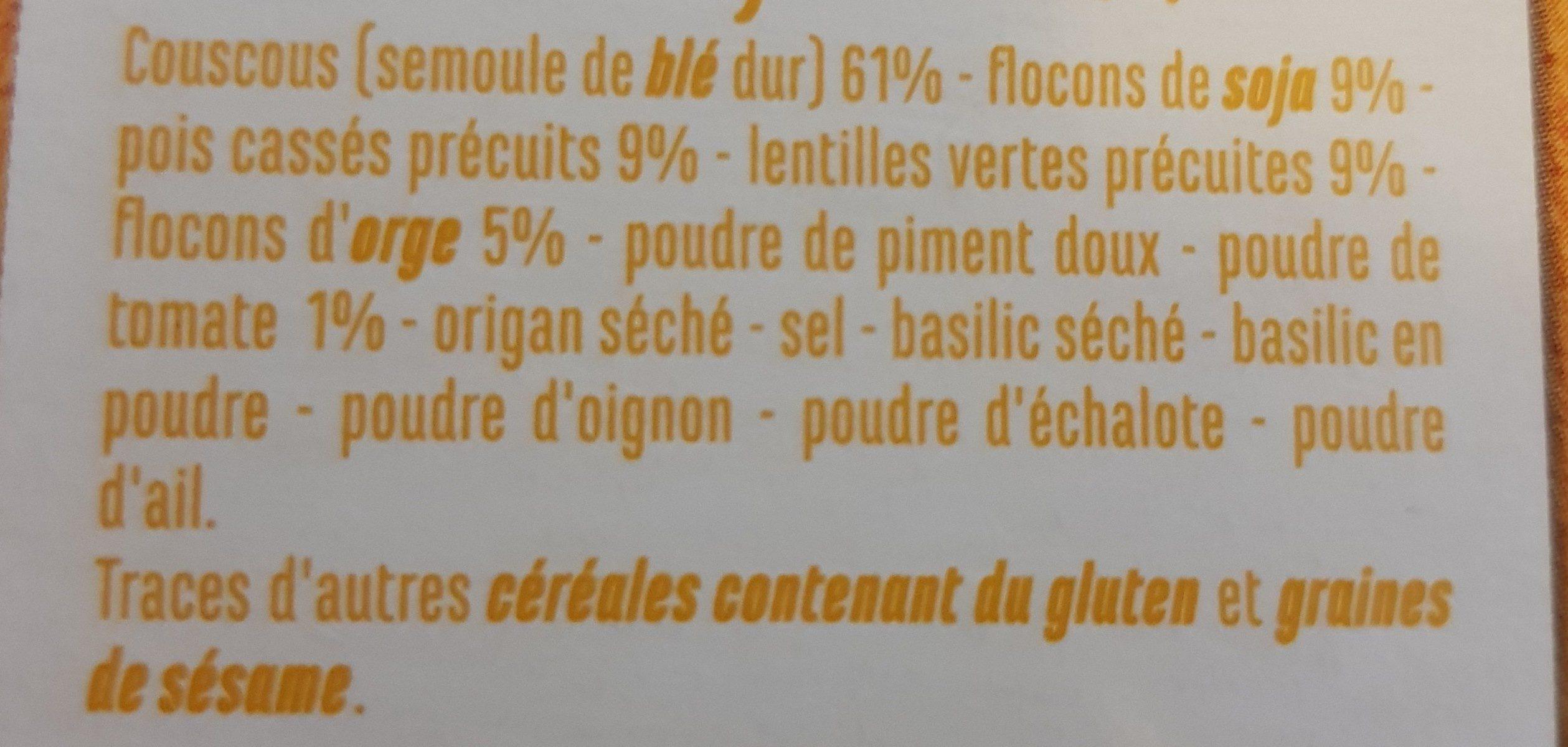Couscous et Légumes Secs - Ingrédients