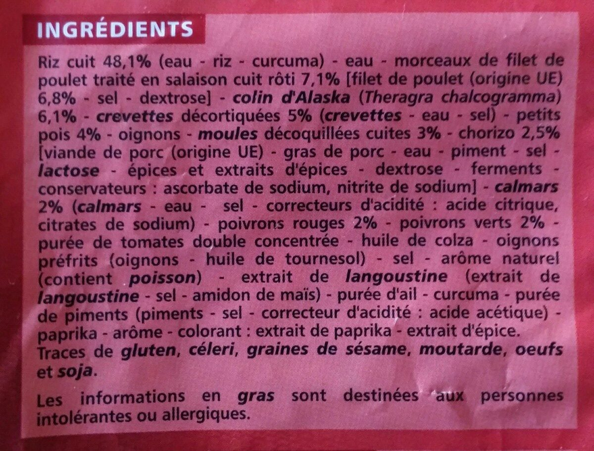 Paëlla royale - Ingredients