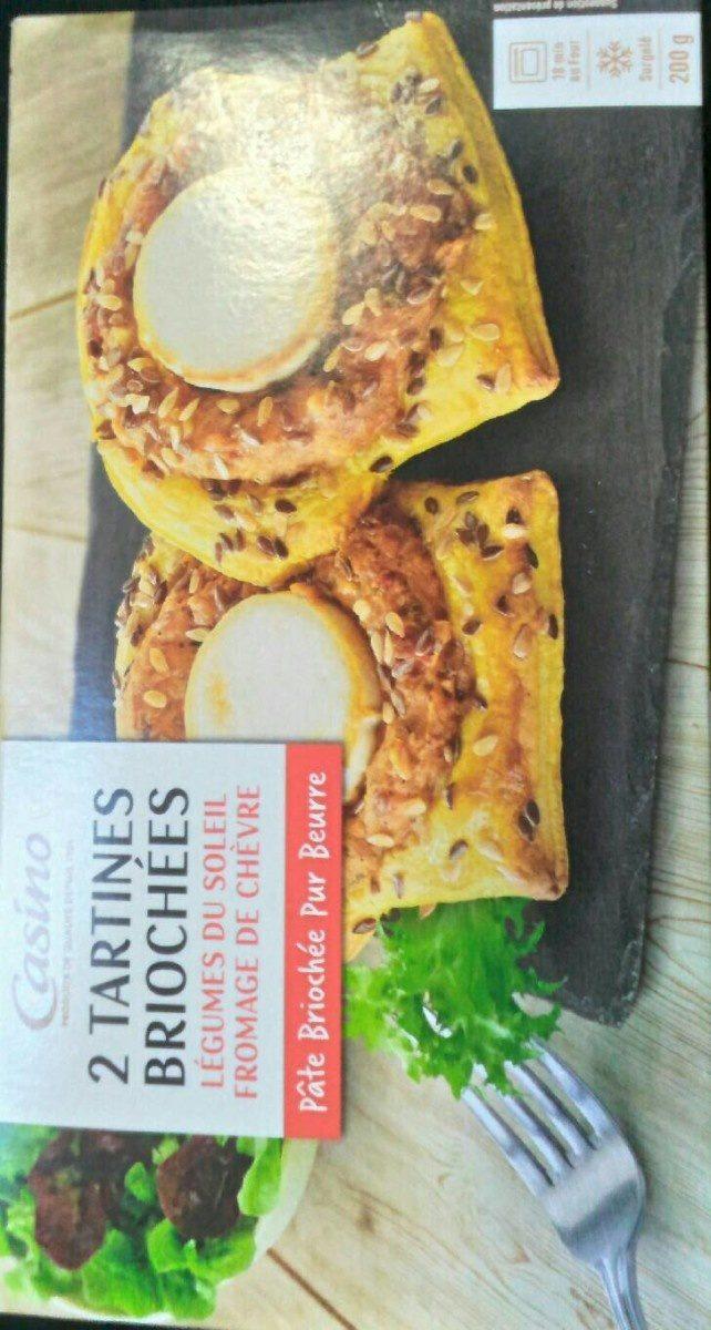 2 tartines briochées - Légumes du soleil fromage de chèvre - Produit - fr