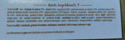 2 tartines briochées - Légumes du soleil fromage de chèvre - Ingrédients - fr