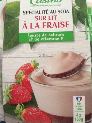Spécialité au soja sur lit à la fraise - Prodotto - fr