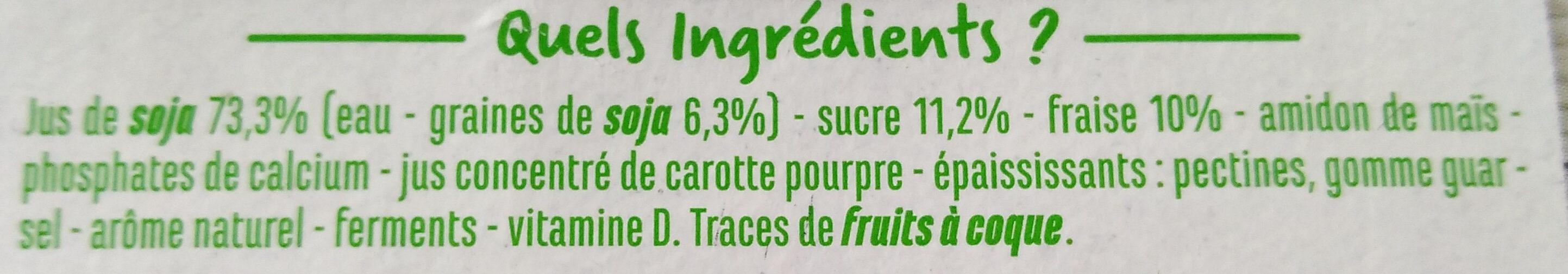 Spécialité au soja sur lit à la fraise - Ingredienti - fr