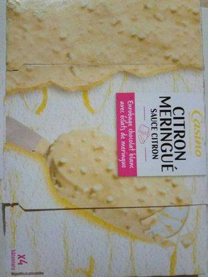 Maxi bâtonnets Citron meringué sauce citron enrobage chocolat blanc avec éclats de meringue x4 - Produit