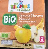 Pomme banane biscuit sans morceaux BIO - Product