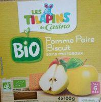 Pomme Poire biscuit sans morceaux BIO - Product
