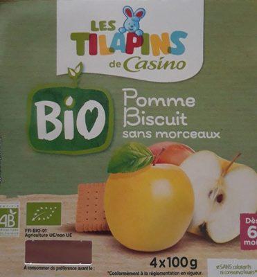 Pomme biscuit sans morceaux BIO - Product - fr