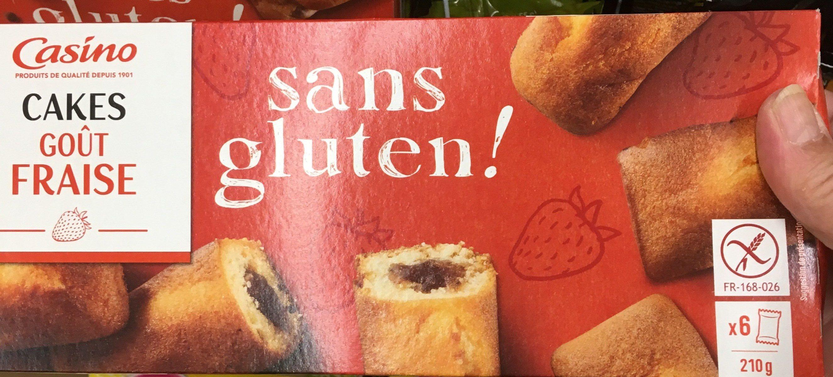 Cake goût Fraise sans gluten - Produit - fr