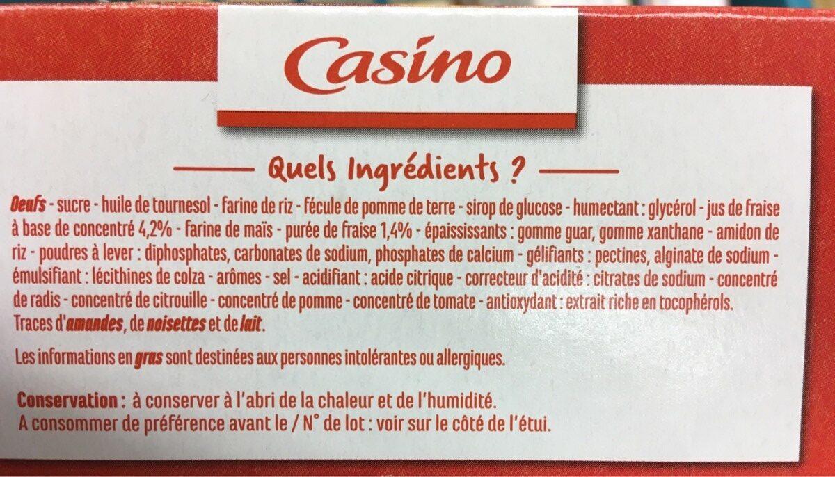 Cake goût Fraise sans gluten - Ingrédients - fr