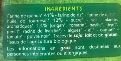 Poppes Quinoa herbes de provence BIO - Ingredients