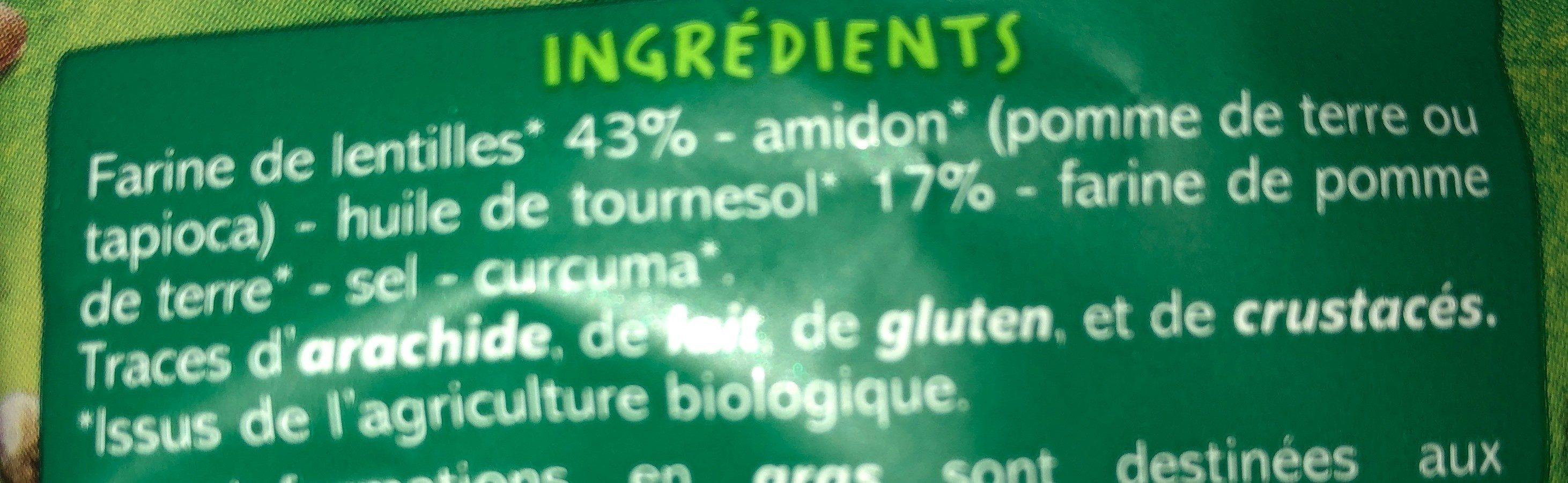 Pétales aux lentilles nature - Ingrediënten - fr