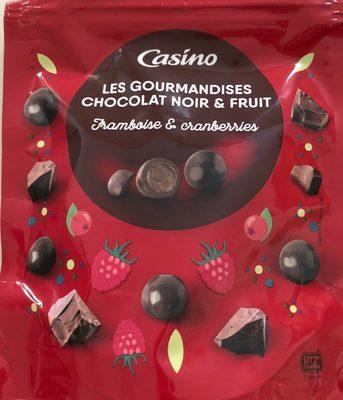 Les gourmandises chocolat noir et fruits - Framboise et cranberries - Product
