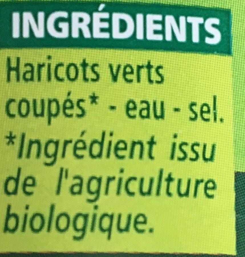 Haricots verts extra-fins coupés bio - Ingrédients